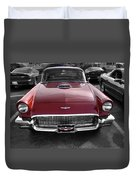 Ford Thunderbird Red V1 Duvet Cover