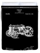 Ford Tractor Patent 1919 Black Duvet Cover