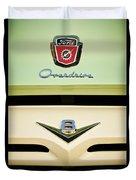 Ford V8 Pickup Emblem Duvet Cover