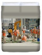 Foreign Workers - Manama Bahrain Duvet Cover