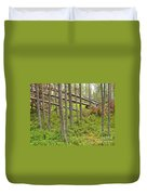 Forest After Storm - Fall Pines In Wild Forest Duvet Cover