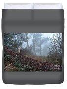 Forest And Fog In Serra Da Estrela Duvet Cover