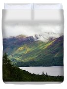 Forest And Lake Derwent Water Drama Duvet Cover