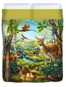 Forest Animals Duvet Cover