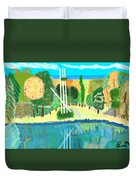 Forest At The Shore Duvet Cover