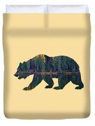 Forest Bear Duvet Cover
