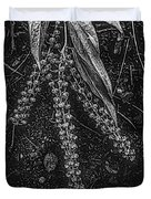 Forest Botanicals In Black And White Duvet Cover