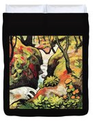 Forest Brook By August Macke Duvet Cover