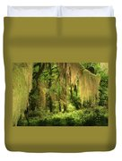 Forest Fantasy - Quinault - Gateway To Paradise On The Olympic Peninsula Wa Duvet Cover by Christine Till