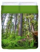 Forest Floor Of Hoh Rain Forest Duvet Cover