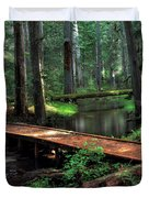 Forest Foot Bridge Duvet Cover