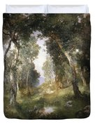 Forest Glade Duvet Cover by Thomas Moran