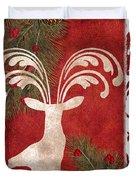 Forest Holiday Christmas Deer Duvet Cover