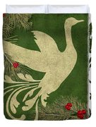 Forest Holiday Christmas Goose Duvet Cover