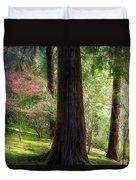 Forest In Portland Japanese Garden Duvet Cover