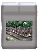 Forest Inspection Bungalow  Duvet Cover