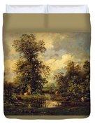 Forest Landscape 1840 Duvet Cover