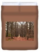 Forest Lane Near Maarsbergen Duvet Cover