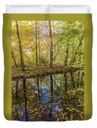 Forest Leaf Reflection Duvet Cover