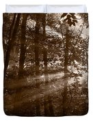 Forest Mist B And W Duvet Cover