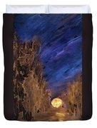Forest Moonrise Glow Duvet Cover