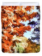 Forest Of Fall Colors Duvet Cover