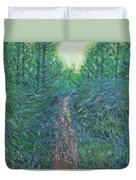 Forest Of Green And Blue Duvet Cover