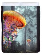 Forest Of Jellyfish Worlds Duvet Cover