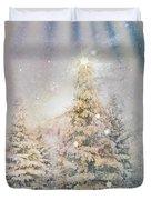 Forest Of Trees In The Light Duvet Cover