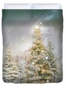 Forest Of Trees In Wintergreens Duvet Cover