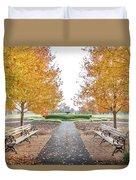 Forest Park Benches Duvet Cover
