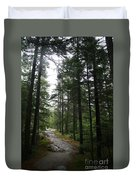 Forest Path At Grafton Notch State Park Duvet Cover