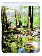 Forest People Duvet Cover