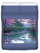 Forest River Scene. L A Duvet Cover