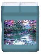 Forest River Scene. L B Duvet Cover