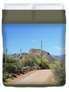 Forest Road 172 Tonto National Forest Duvet Cover