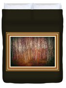 Forest Scene. L A With Decorative Ornate Printed Frame. Duvet Cover