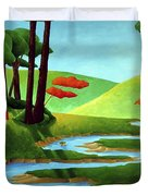 Forest Stream - Through The Forest Series Duvet Cover
