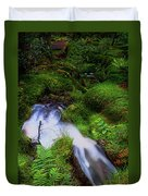 Forest Stream. Benmore Botanic Garden Duvet Cover