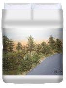Forest Sunrise Beach Duvet Cover