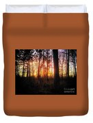 Forest Sunset Duvet Cover
