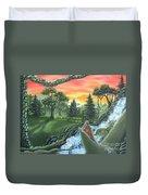 Forest Sunset Cascade Duvet Cover