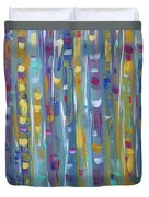 Forest Through The Trees, Abstract Art Duvet Cover