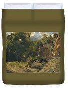 Forest Track. 1855 Duvet Cover