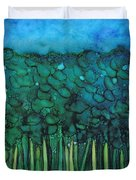 Forest Under The Full Moon - Abstract Duvet Cover