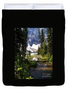 Forest View To Mountain Lake Duvet Cover by Greg Hammond