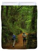 Forest Walkers, El Camino, Spain Duvet Cover