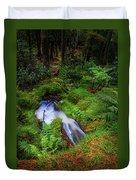 Forest  Water Stream. Benmore Botanic Garden Duvet Cover