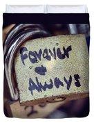 Forever And Always Paris Love Lock Duvet Cover