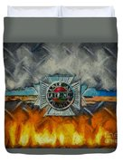 Forged In Fire - Vintage American Lafrance - Oil Duvet Cover